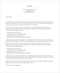 10 Sample Sales Cover Letters Sample Templates