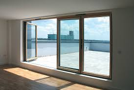 Apartment folding sliding door system the SFK82 as a balcony opening
