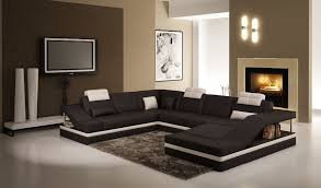 high end modern furniture. U Shape Leather Sofa Couches For Living Room Modern Sectional Black And White High End Furniture D