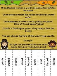 Small Picture Thanksgiving Onomatopoeia Tear Tab Writing Activity by Purple Palmetto