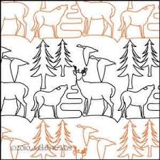 980 best Quilt Pantographs for Adult quilts images on Pinterest ... & Deer,wolf,geese quilting pantograph 10