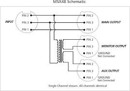 arx msx 48 mic line splitter front panel
