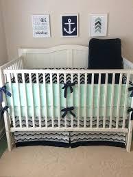 nautical baby boy nursery bedding crib set navy and mint by full size