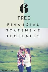 Free Financial Statements Templates 5 Business Personal Financial Statement Templates
