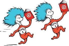 Image result for thing 1 and thing 2 clipart