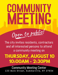 Community Town Hall Meeting Announcement Flyer Poster Template
