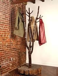 Ideas For Coat Racks Diy Coat Tree Tree Shaped Coat Rack Made Of Wooden Base And Tree 95