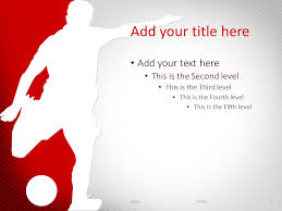 Soccer Powerpoint Template Red Presentationgo Com