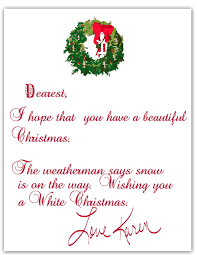 Christmas Writing Christmas Letter Examples Formatow To Write