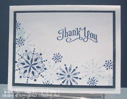 snowflake thank you cards frosted snowflake thank you card ink it up with jessica card