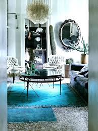 teal overdyed rug grey mother of pearl lamp velvet vintage