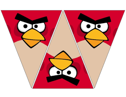 Angry Bird Red Banner Free To