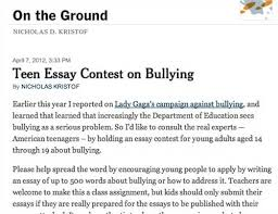 bullying essay contest jpg rockkniga com Students win anti bullying essay contest