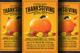 thanksgiving party flyer thanksgiving flyer template flyer templates creative market