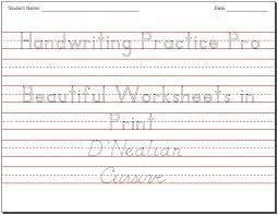 Cursive Handwriting Worksheet Maker 45 Impressive 43 Best
