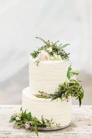 Simple Wedding Cake With Greenery I Do Wedding Cake Rustic