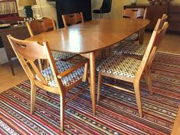 mid century modern kitchen table and chairs. Vintage Mid-Century Pecan Dining Set By Hooker Mid Century Modern Kitchen Table And Chairs