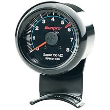 amazon com sunpro cp7906 mini super tachometer ii black dial this item sunpro cp7906 mini super tachometer ii black dial