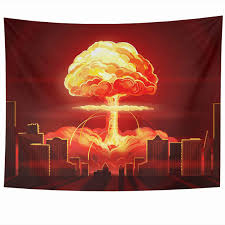 Atomic Bomb Light Fixture Amazon Com Ahawoso Tapestry 60 X 50 Inches End Nuke Nuclear