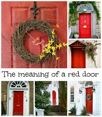 how to paint a front doorThe Tradition of Painting a Front Door Red  What Does it Mean