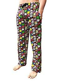 Character Pants Mens Comics Lounge Pants Novelty Character Pyjamas Cotton Bottoms Nightwear