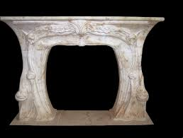 french provincial stone fireplace mantels art nouveau
