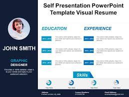 Resume Powerpoint Presentation Self Presentation Powerpoint Template Visual Resume