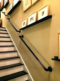 Metal handrails for stairs Stainless Steel Pipe Stair Railing Rail Hand Banister With Brackets Vintage Black Handrail For Stairs Nickel Iron Newman Iron Works Black Pipe Railing Dycap