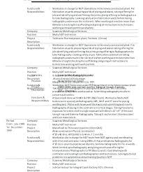 ndt resume samples ndt resume format dew drops