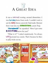 are there any geronimo stilton books to online kayoz talks  a page from a gs book words and pictures a great idea it