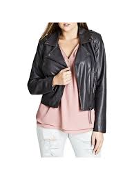city chic city chic womens plus fall faux leather motorcycle jacket com