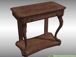 How to Distress Wood Furniture with wikiHow