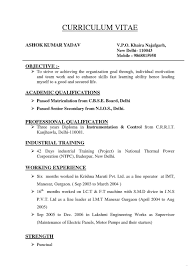 Resume Types Of Resume Format Formats Listhehree Examples