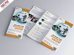Foldable Brochure Template Free Tri Brochures Magdalene Project Org