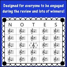 Treble Clef Music Treble Clef Music Bingo Game By Linda Mcpherson Tpt