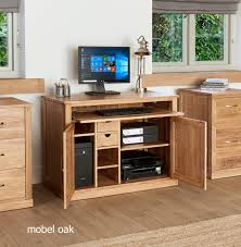 nara solid oak hidden home.  Oak Mobel Oak Hidden Home Office Throughout Nara Solid D