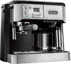 The drinks come out textured, rich, creamy and the right amount of froth. De Longhi 10 Cup Coffee Maker And Espresso Maker With 15 Bars Of Pressure Stainless Steel Bco430 Best Buy