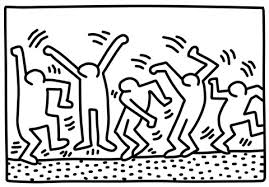 Small Picture Dancing Figures by Keith Haring coloring page Free Printable