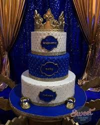 Royal Prince Baby Shower Cake Gold Crown Topper Gold Baby Shoes