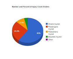 Visual Pie Chart Auto Accident Severity And Victim Data Visuals On Student Show