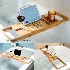 tub tray caddy bathtub bamboo wood shower bath tub tray organizer bath book holder clawfoot tub tub tray