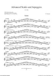 Ferrari Advanced Scales And Arpeggios Sheet Music For Violin Solo