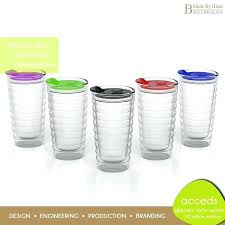 glass travel coffee mug custom insulated cup with spoon lid best