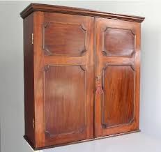 antique mahogany 2 door wall cupboard