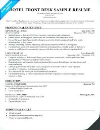 resume for front desk front desk clerk resume dew drops