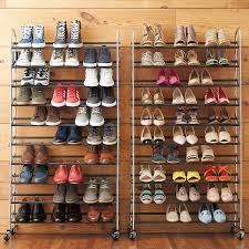 Chrome 10-Tier Rolling Shoe Rack ...