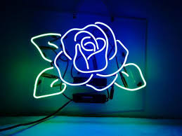 neon signs blue rose beer bar pub recreation room lights windows wall signs or for