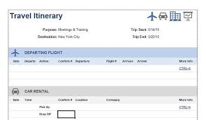 Itinerary Travel Template 30 Itinerary Templates Travel Vacation Trip Flight