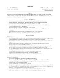 Resume Skills For Business Administration objective for business administration resume Enderrealtyparkco 1