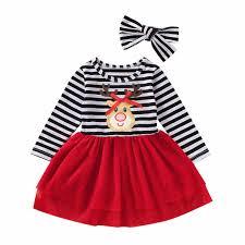 <b>Christmas</b> Dress Girl Baby <b>Santa Print</b> Tutu Dress Red Festival ...